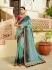 Green shaded and pink silk Indian wedding wear saree 5020