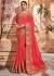 Salmon silk Indian wedding wear saree 1902