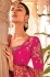 Pink silk Indian wedding wear saree 1904
