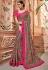 Grey silk Indian wedding wear saree 1907