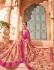Peach silk Indian wedding wear saree 1908