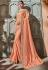 Peach silk Indian wedding wear saree 1910