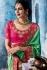Pink green color silk Indian wedding wear saree 1102
