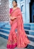 Pink color silk Indian wedding wear saree 1105