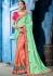 Pastel Pink color silk Indian wedding wear saree 1106