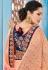Blush color Indian wedding wear silk saree 7003