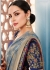 Grey color Indian wedding wear silk saree 7004