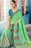 Green Indian wedding wear silk saree 7012