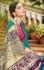 Teal banarasi weaving silk Indian wedding saree 1001
