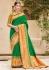 Green banarasi weaving silk Indian wedding saree 1006
