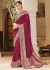 Purple banarasi weaving silk Indian wedding saree 1013