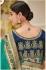 Teal banarasi weaving silk Indian wedding saree 1014
