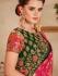 Pink color silk Indian wedding saree 929