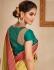 Mustuard color silk Indian wedding saree 936