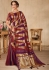 Purple maroon color silk Indian wedding saree 937