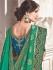 Green fancy silk Indian wedding saree 2306