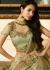 Malaika arora khan pista green silk Indian wedding Lehenga choli 13191