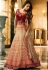 Malaika arora khan Beige maroon silk Indian wedding Lehenga choli 13192