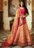 Peach Pink silk Indian wedding Lehenga choli 13193