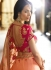 Malaika arora khan Orange Pink silk Indian wedding Lehenga choli 13196