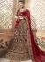 Dark maroon velvet embroidered heavy designer Indian wedding lehenga choli 4702