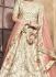 Ivory color mulberry silk embroidered heavy designer Indian wedding lehenga choli 4705