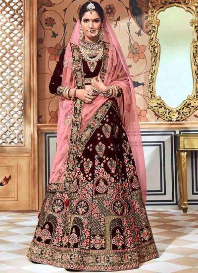 2c9a088b0a Wine-velvet-embroidered-heavy-designer-Indian-wedding-lehenga-choli-4709.jpg