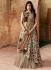 Indian wedding chikoo Brown and Gold silk wedding lehenga 7712