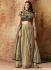 Indian wedding Beige and gold lycra wedding lehenga 7719
