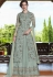 Grey net Indian wedding wear anarkali suit 4502