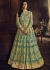 Light green net wedding wear Lehenga kameez