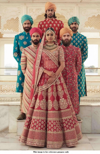 Bollywood Sabyasachi Inspired Maroon Banglori silk lehenga