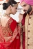 Maroon pure satin silk wedding lehenga