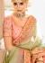 Peach dolla silk Indian wedding lehenga
