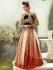 Epitome Red and cream velvet wedding lehenga choli