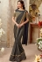 Dusty black shimmer party wear saree