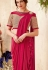 Dark pink designer party wear Saree