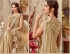 Gold shimmery designer party wear saree