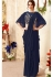 Navy blue designer party wear saree