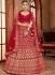 Red color Velvet Indian Bridal Lehenga choli 4433