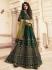 Dark green silk Indian wedding lehenga choli 901