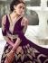 Appealing purple velvet straight suit