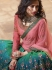 Shaded green pink silk Indian wedding lehenga choli 903