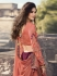 Magenta peach silk Indian wedding lehenga choli 906