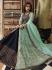 Navy blue Sea green silk Indian wedding lehenga choli 909