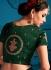 Green satin silk Indian Wedding Lehenga choli 1706