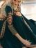 Cyan Color Barfi silk saree Indian wedding saree double blouse
