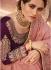 Onion pink barfi silk Indian designer Saree