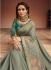 Grey color Barfi silk Indian designer Saree