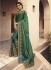Green shaded Barfi silk Indian designer Saree